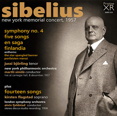 SIBELIUS 1957 Memorial Concert - 14 Song Recital (1957/58) - PASC518