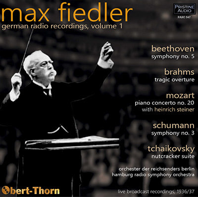MAX FIEDLER German Radio Recordings, Volume 1 (1936/37) - PASC547