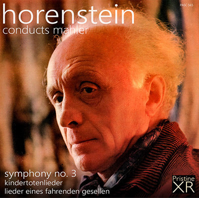 HORENSTEIN conducts Mahler Symphony No. 3, Lieder (1954/61) - PASC565