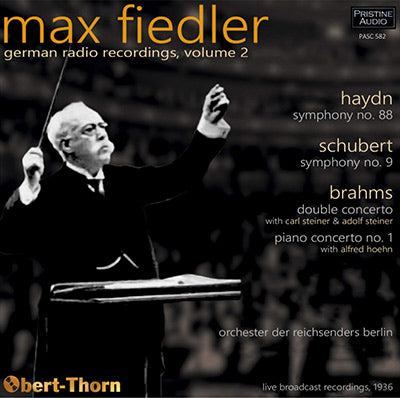MAX FIEDLER German Radio Recordings, Volume 2 (1936) - PASC582