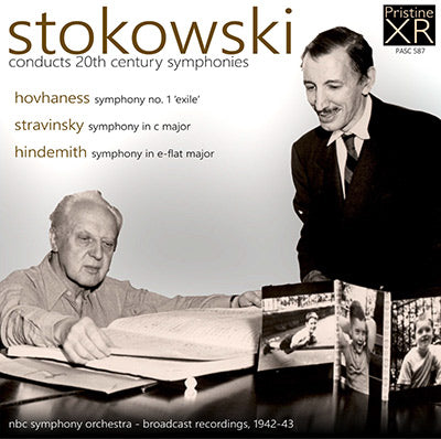 STOKOWSKI conducts C20 Symphonies - Hovhaness, Stravinsky, Hindemith (1942/3) - PASC587
