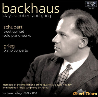 BACKHAUS plays Schubert and Grieg (1927-36) - PASC607