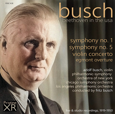 BUSCH Beethoven in the USA (1919-1950) - PASC618