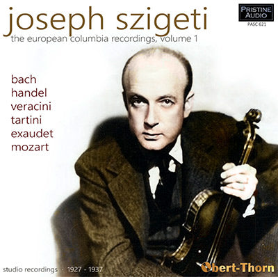 SZIGETI The European Columbia Recordings, Volume 1 (1927-37) - PASC621