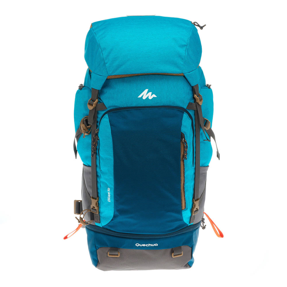 f2c09e052007 ... Free Shipping QUECHUA TRAVEL 500 50 LITRE WOMEN S LOCKABLE TREKKING  BACKPACK - BLUE - laogenout ...
