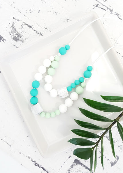 Our most popular design to date, the Double Dutch necklace is quite the statement with twin strands of easy care, Bpa-free silicone beads - Double Dutch Silicone Necklace - Bowerbird Creations