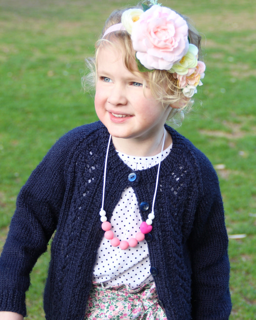 Sweetheart is not just cute and pretty, it is non-toxic, light weight and best of all, easy to clean.  - Sweetheart Children's Necklace - Bowerbird Creations