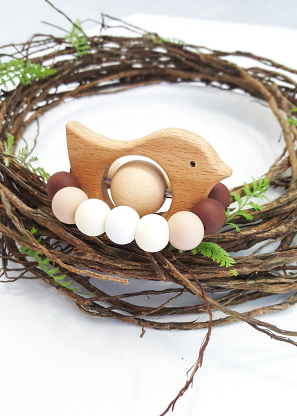 Rattle 'n' Tweet Teething Toy - Bowerbird Creations
