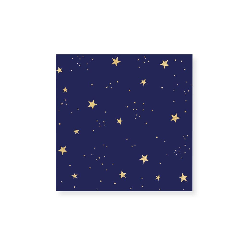 Small Match Box-Starry Gold Foil