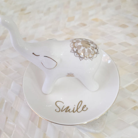 Smile Elephant Ring Holder