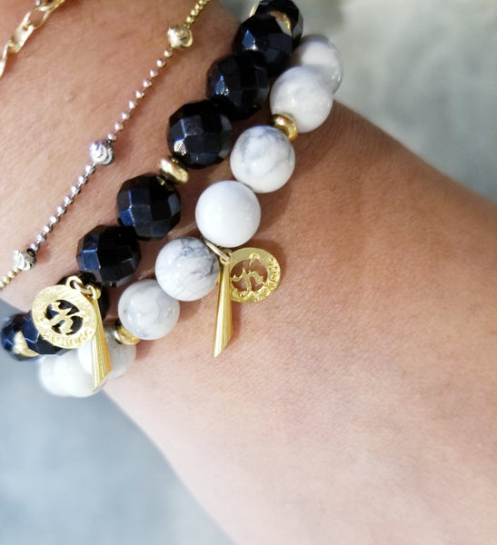 Howlite Intention Bracelet For Calming