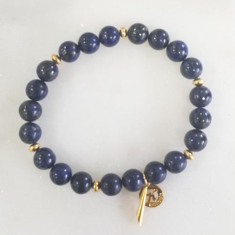 Lapis Lazuli Intetion Bracelet for Wisdom