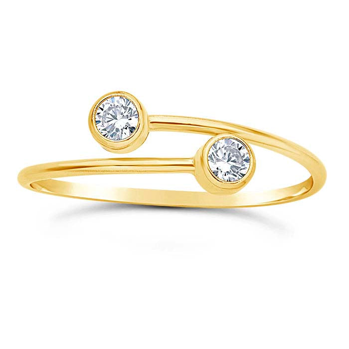 CZ Adjustable Ring-Gold