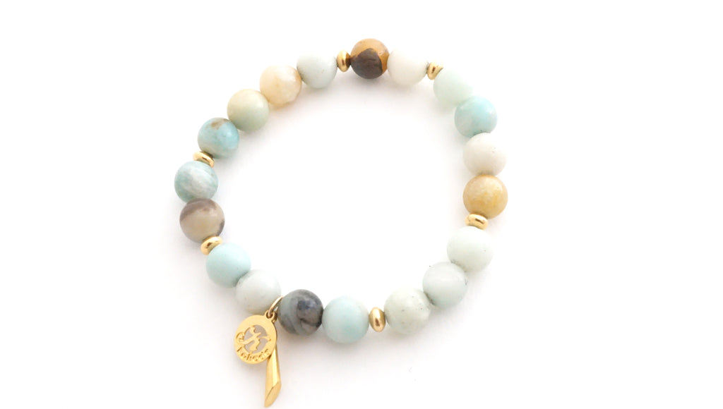 Amazonite beaded stretch bracelet