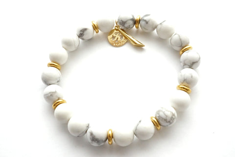 Howlite Empower Bracelet - Stone for Calming -     Kaliada