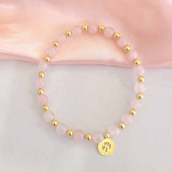 Rose Quartz Intention Bracelet for Love-Single