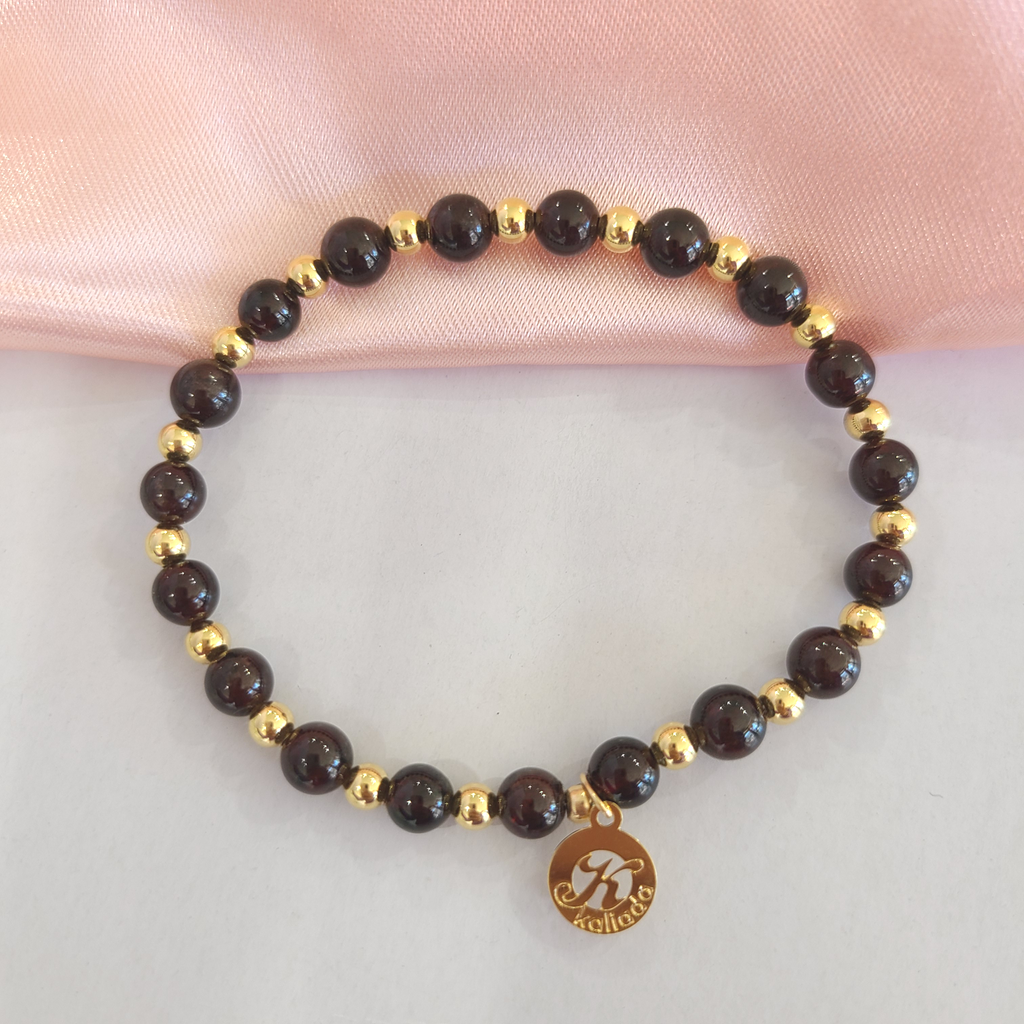 Garnet Intention Bracelet For Grounding-Single
