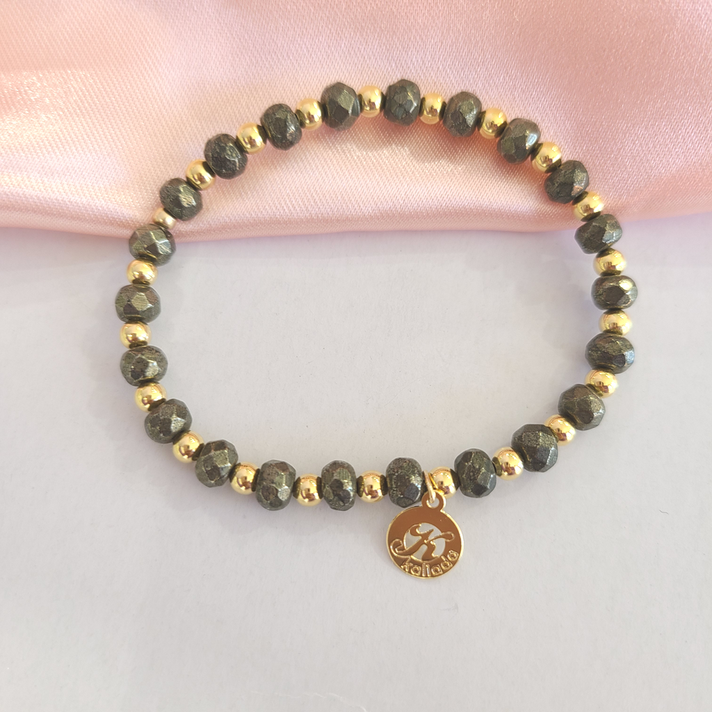 Pyrite Intention Bracelet for Confidence-Single
