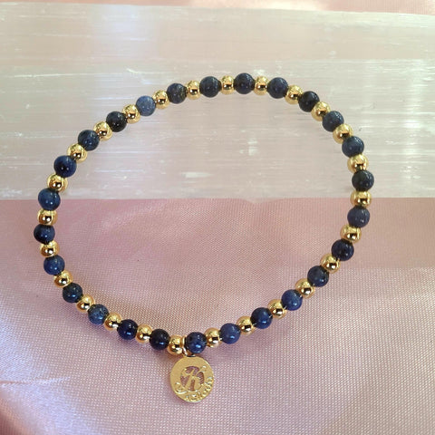 Sodalite-Intention Bracelet for Truth