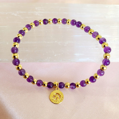 Amethyst-Intention Bracelet for Tranquility