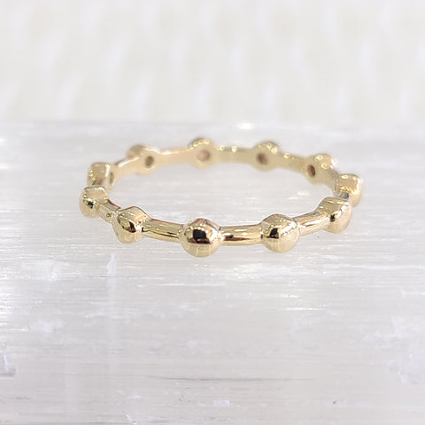 Bead Ring-Gold