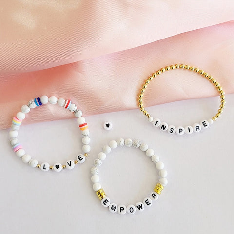 Spell It Out Intention Bracelet