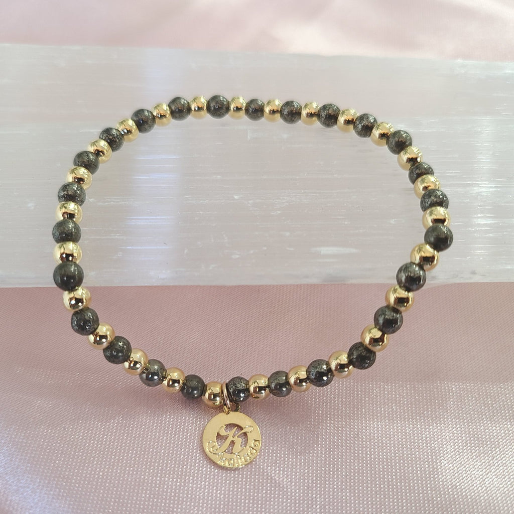 Pyrite-Intention Bracelet for Confidence