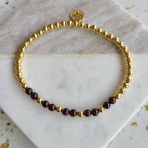 Garnet- Intention Bracelet for Grounding