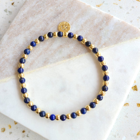 Lapis Lazuli-Intention Bracelet for Wisdom