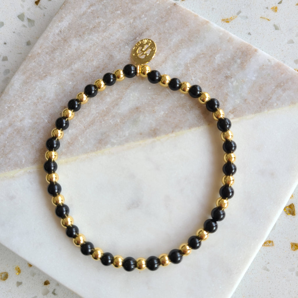 Onyx-Intention Bracelet for Freedom