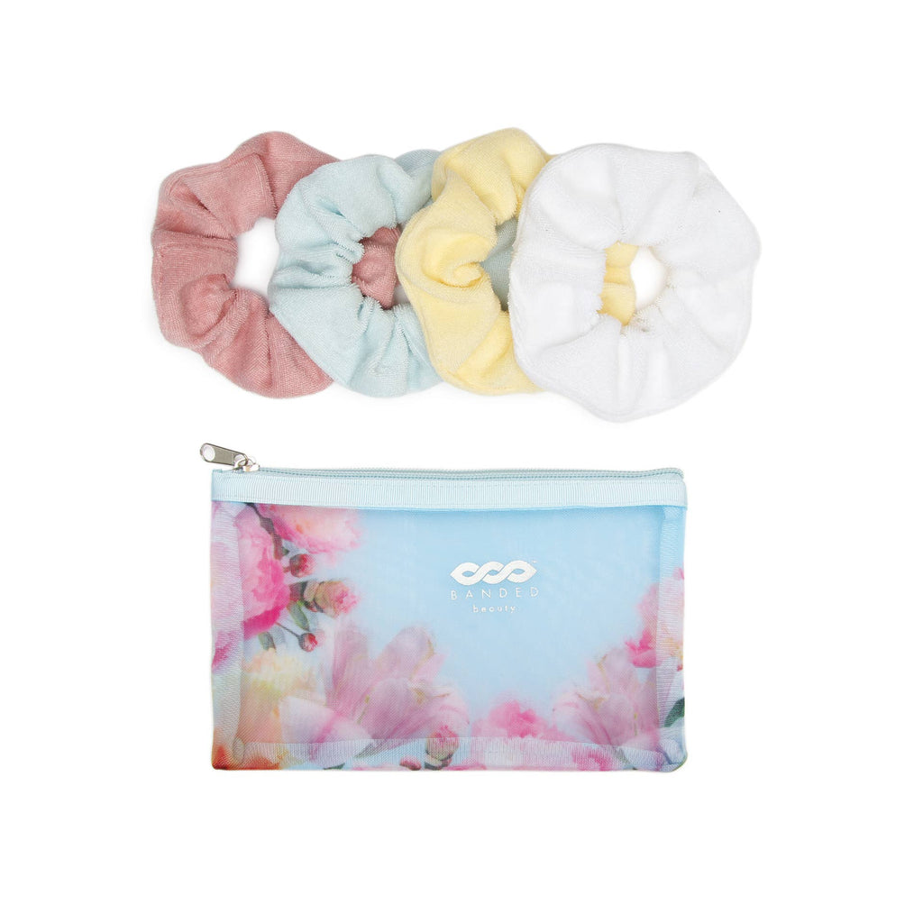 Floral Splendor Scrunchies Spa Set