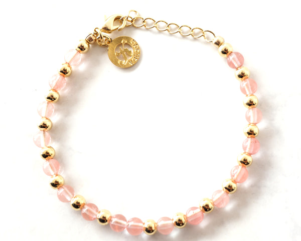 Cherry Quartz Intention Bracelet for Healing-Clasp