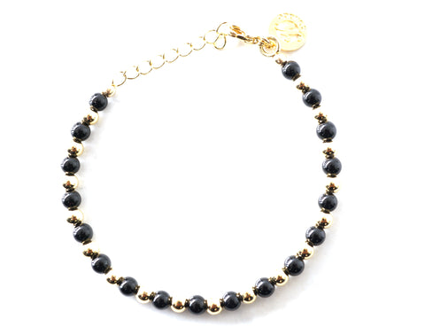Onyx Intention Bracelet for Freedom-Clasp
