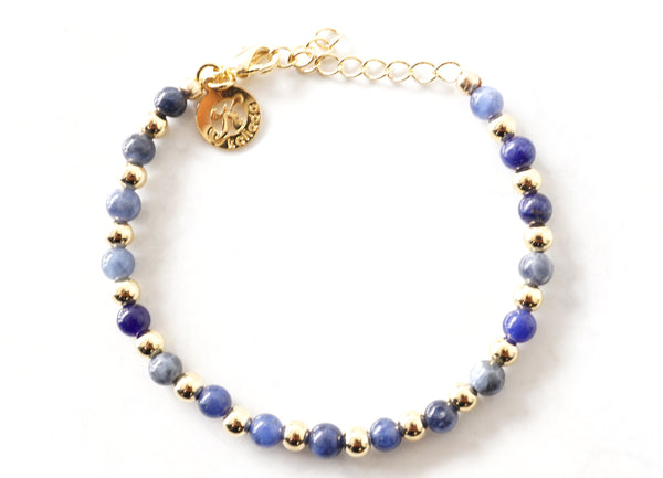 Sodalite Intention Bracelet for Truth-Clasp