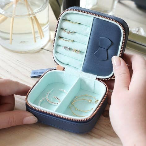 Small Jewelry Case-Navy