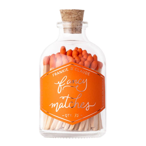Frankie & Claude Match Jar-Orange
