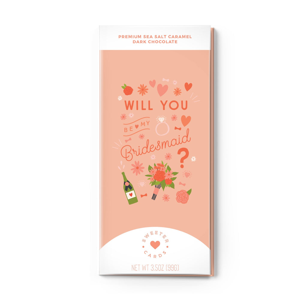 In One Chocolate Bar and Greeting Card-Bridesmaid Proposal