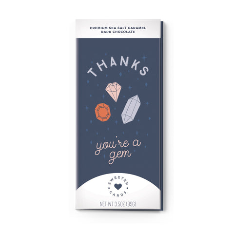 In One Chocolate Bar and Greeting Card-You're A Gem