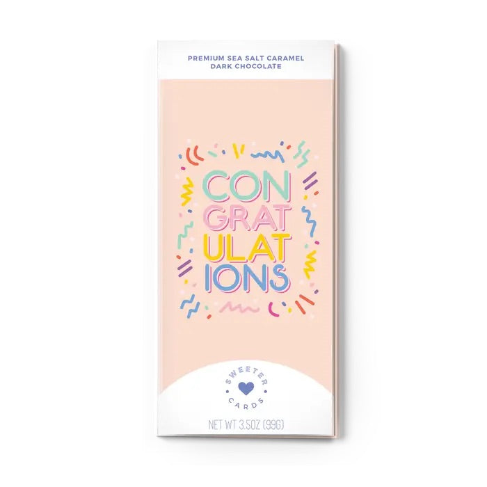 All In One Chocolate Bar and Greeting Card-Congratulations