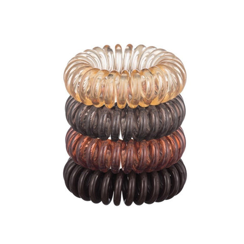4-Pack Hair Coils-Brunette