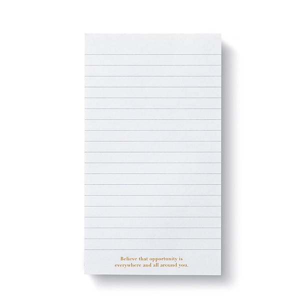 Believe In Today List Pad