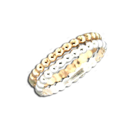 Double Mixed Metal Ring