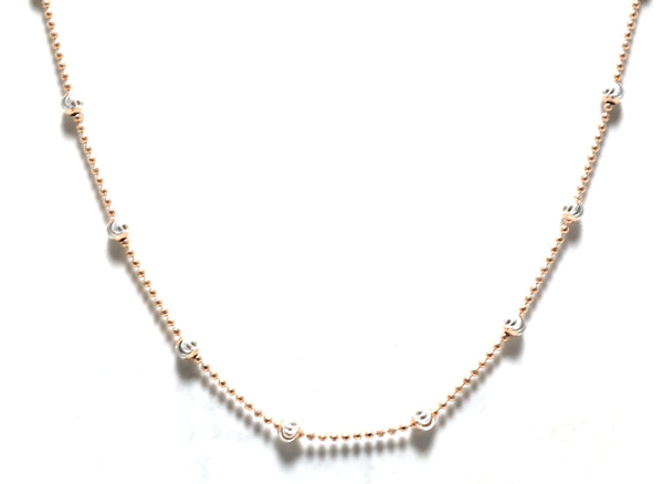 Layer Beaded Chain(Gold, Silver, Rose Gold)