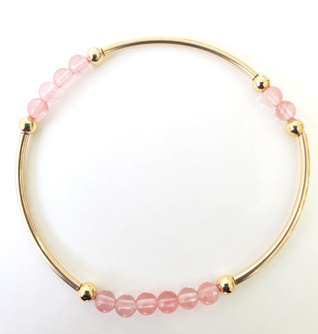 Cherry Quartz - Intention Bracelet for Healing