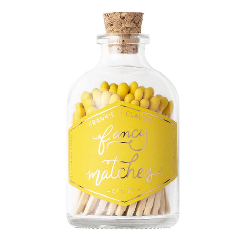 Frankie & Claude Match Jar-Yellow