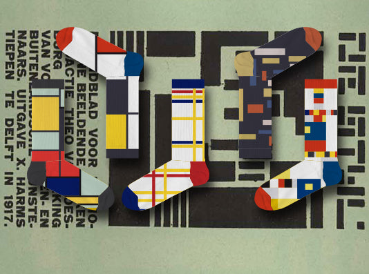 Mondriaan & De Stijl (box with 5 socks)