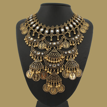 Hot Multi Layer  Gold Bohemian Vintage statement necklace