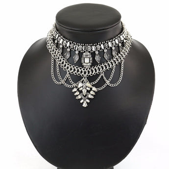 Mari Stunning Hot Multilayer Choker Necklace