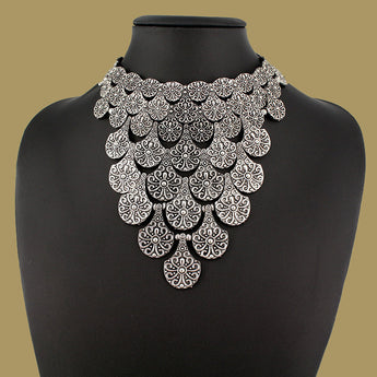 Chic Vintage Silver/Gold Plated Maxi Necklaces