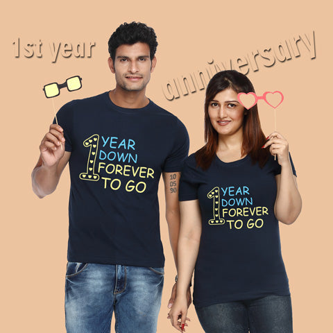 Anniversary t shirts for couples